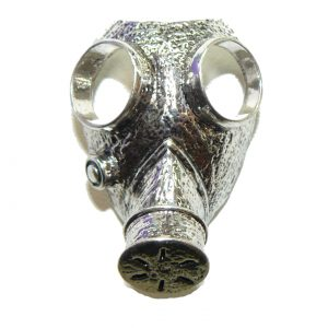 Gas Mask Metal Charm