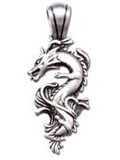 Water Dragon Fine Pewter Charm