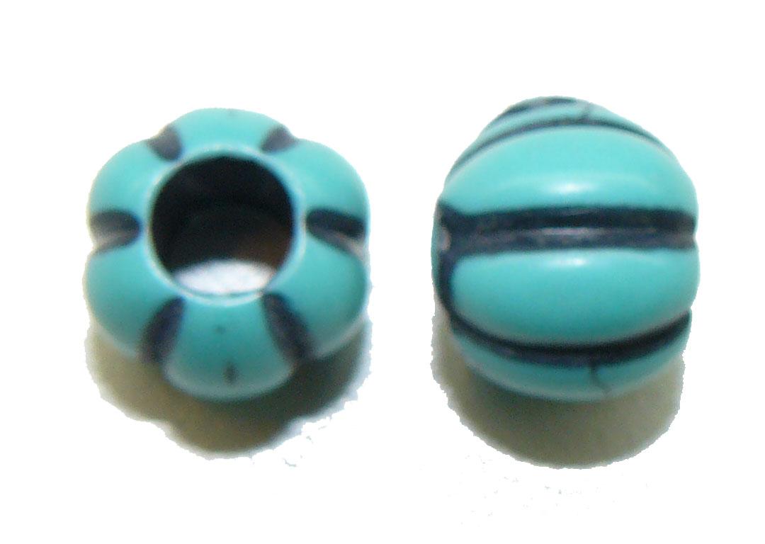Blue Pumpkin Bead large hole