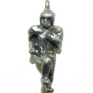 Football Player Pewter Charm