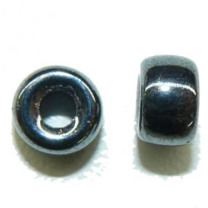 Hemitite Glass Crow Bead 6mm