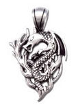 Wood Dragon Fine Pewter Charm