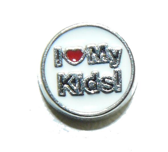 Floating Locket Charm I Love My Kids