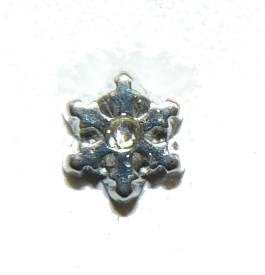 Floating Locket Charm Snowflake