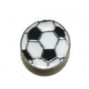 Floating Locket Charm Soccerball