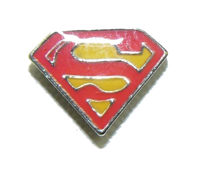 Floating Locket Charm Superman