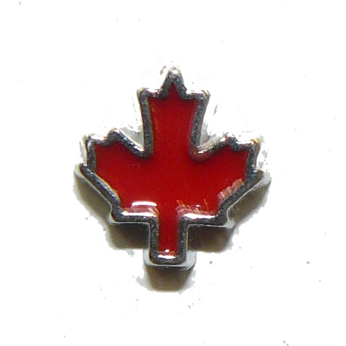 Red Maple Leaf Floating Charm