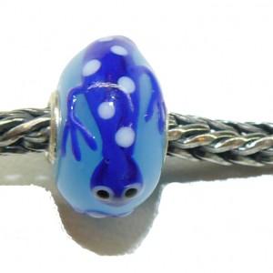 Trollbead Ooak Blue Lizard