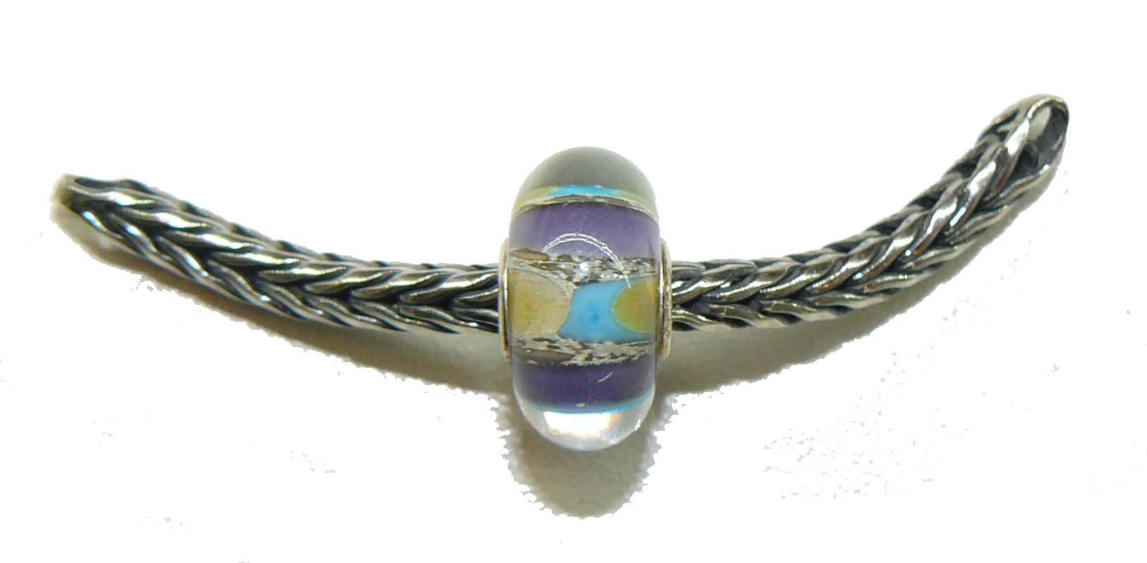 Trollbead Ooak Purple Mosaic