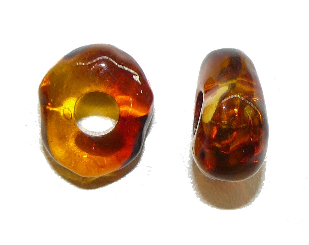Amber Acrylic Large Hole Bead