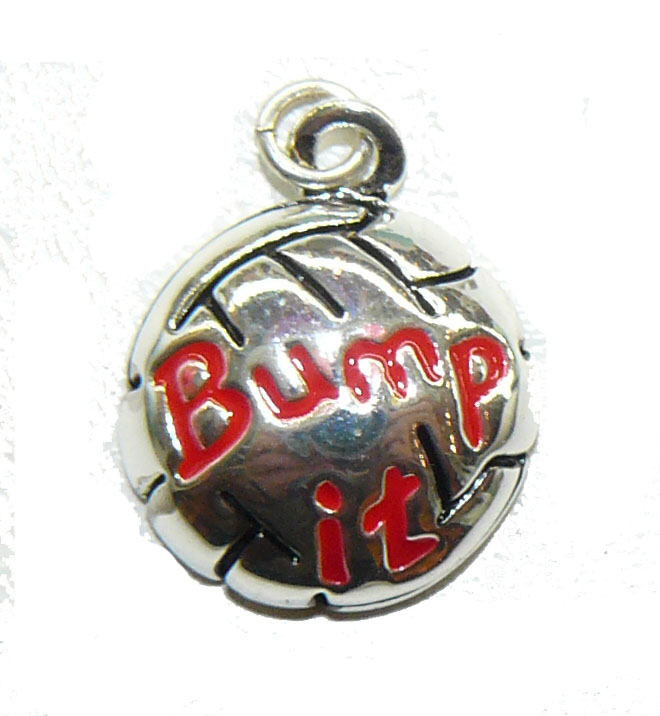 Bump It Volleyball Charm