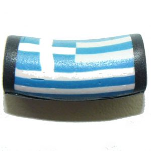 Fimo Bead Greek Flag