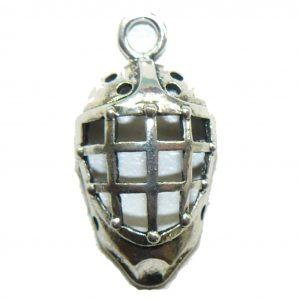 Hockey Goalie Mask – Metal Charm