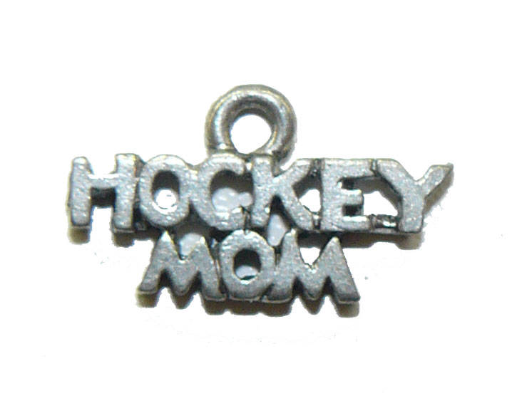 Hockey Mom Pewter Charm