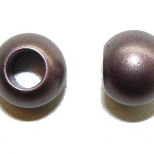 Metallic Purple Acrylic Large Hole Bead