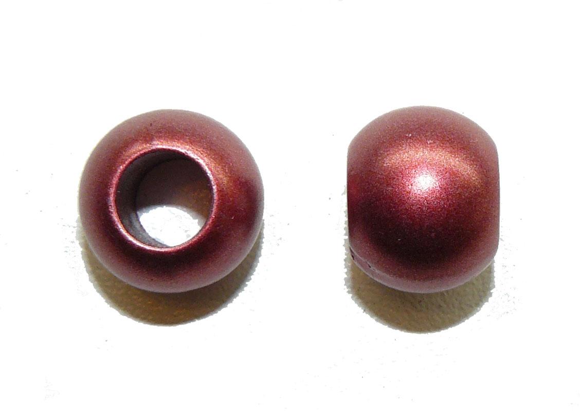 Metallic Red Acrylic Large Hole Bead