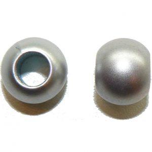 Metallic Silver Acrylic Large Hole Bead