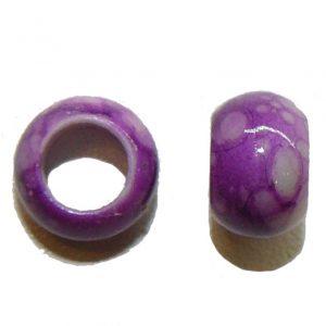 Purple Marble Acrylic Bead