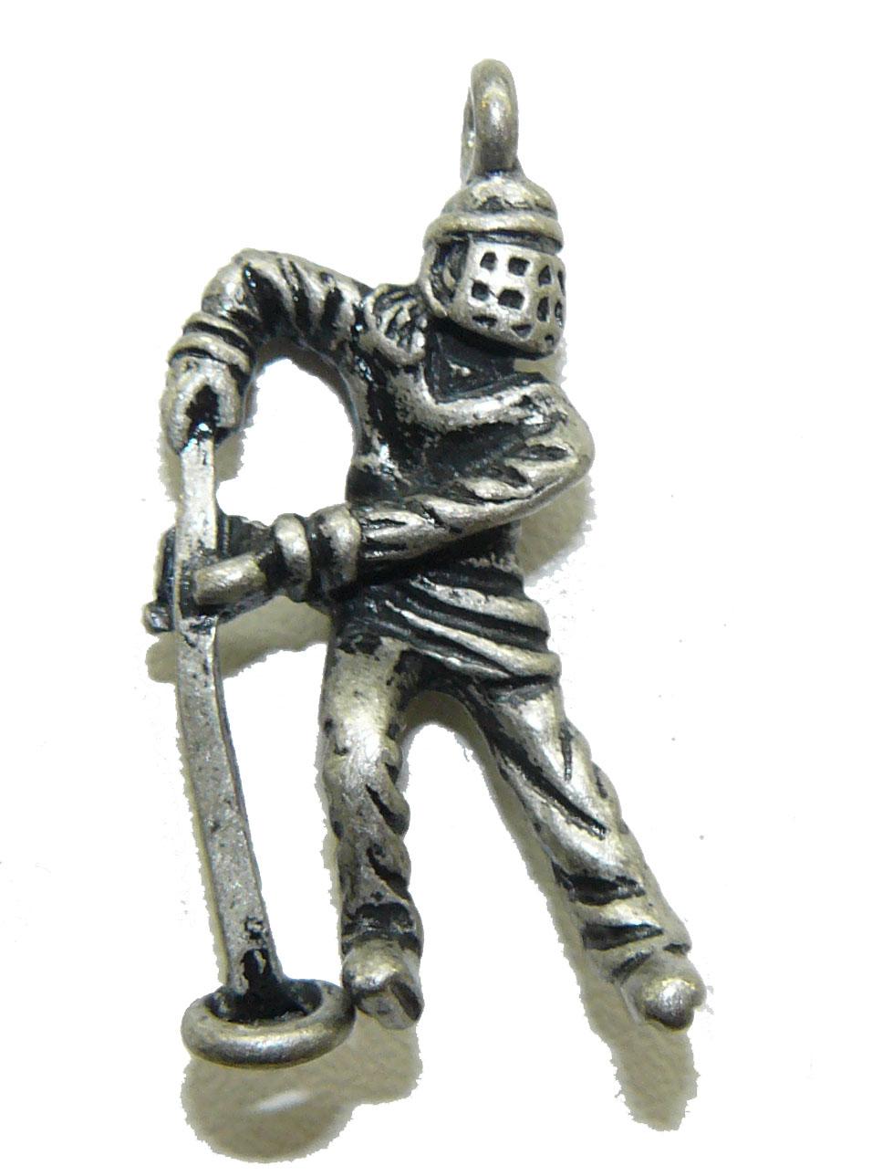 Ringette Player Metal Charm