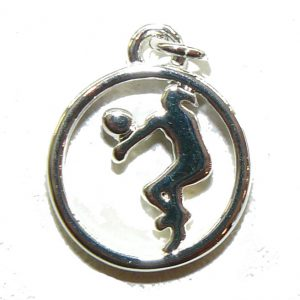 Volleyball player in Circle – Metal Charm
