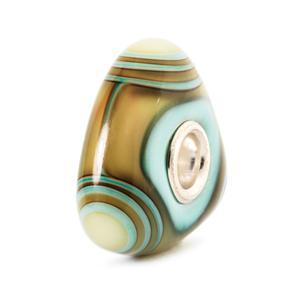 Aqua Edge Triangle Bead