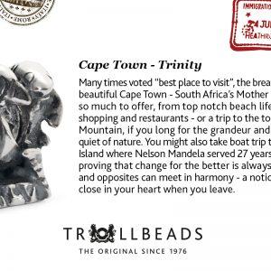 Trollbeads – Cape Town Trinity Bead – Trollbead City Bead 11396