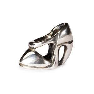 High Heel Bead, Silver