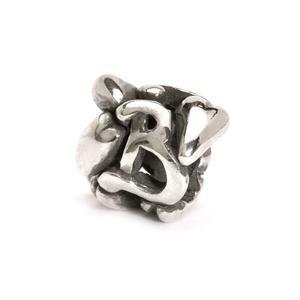 Trollbeads – Letter Bead B, Silver – 11144B