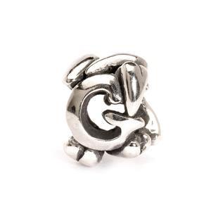 Trollbeads – Letter Bead G, Silver – 11144G
