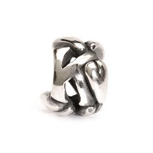 Trollbeads – Letter Bead K, Silver – 11144K