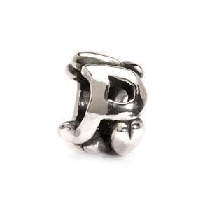 Trollbeads – Letter Bead P, Silver – 11144P
