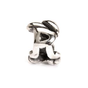 Letter Bead R, Silver