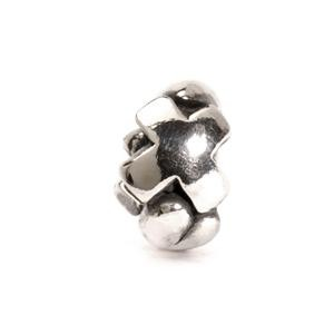 Letter Bead X, Silver