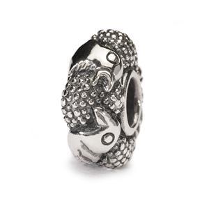 Paradise Birds Bead, Silver