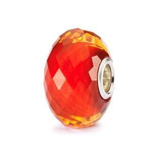 Saffron Facet Bead