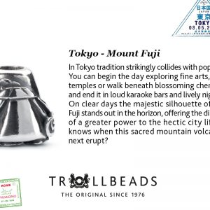 Trollbeads – Tokyo Mount Fuji Bead – Trollbead City Bead 11389