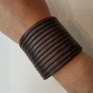 Shredder Leather Bracelet – Brown