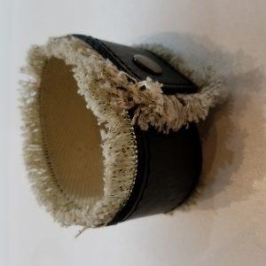Shag Style Leather bracelet – Black and White