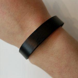 Plain Leather Bracelet – Black