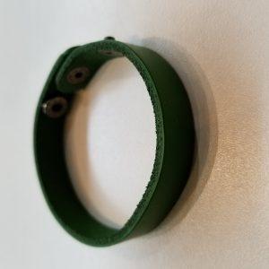 Plain Leather Bracelet – Green