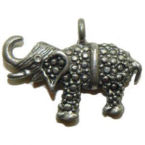 Bumpy Elephant Pewter Charm