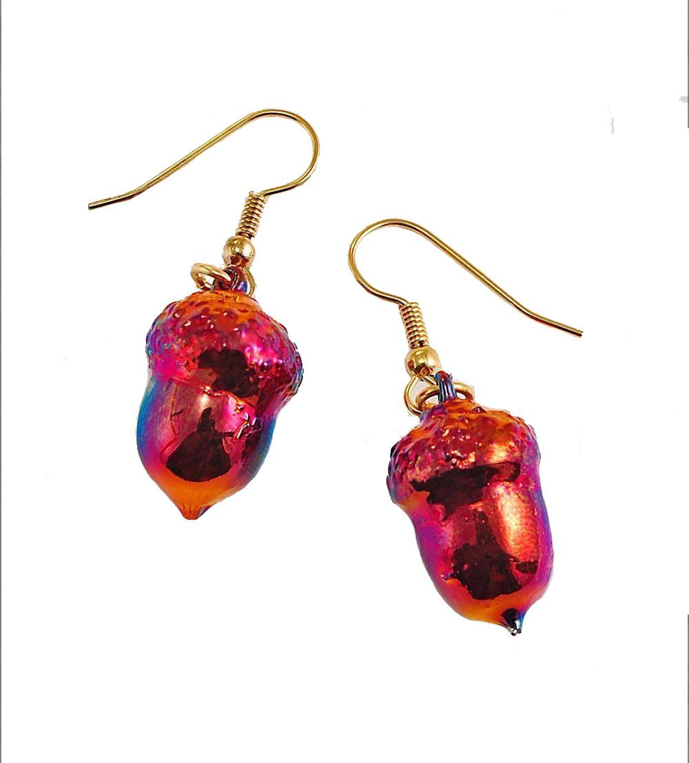Copper Acorn Earrings