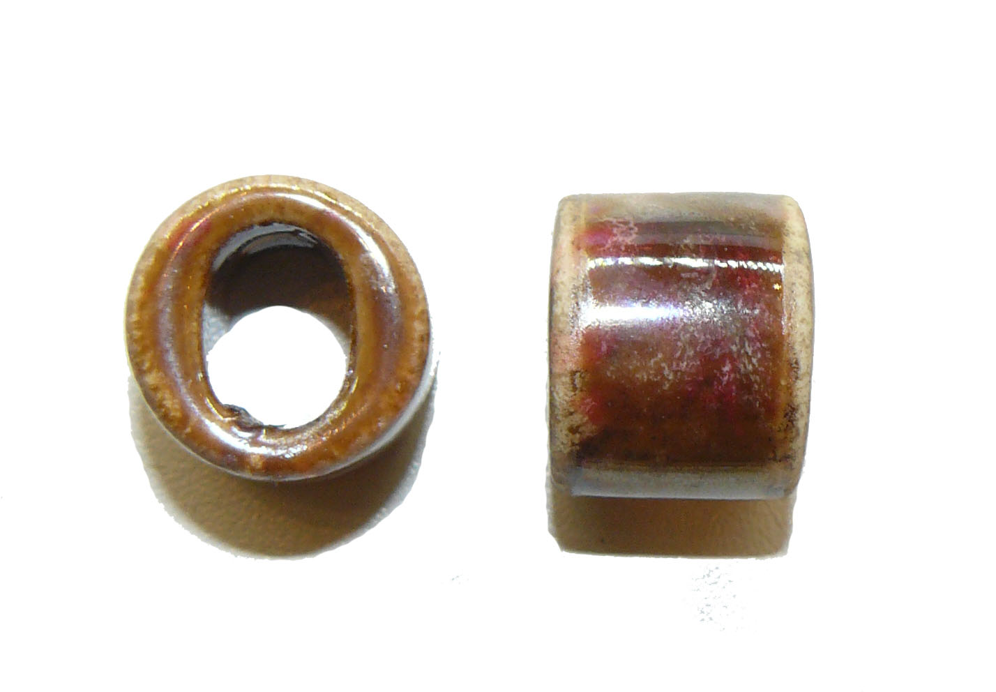 Earthy Ceramic Large Oval Hole Bead