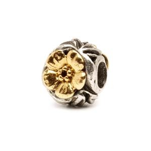 Trollbeads – Flowers Bead, Silver and Gold – 41804