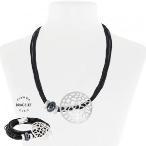 Necklace/BR Noir Black 55-089917