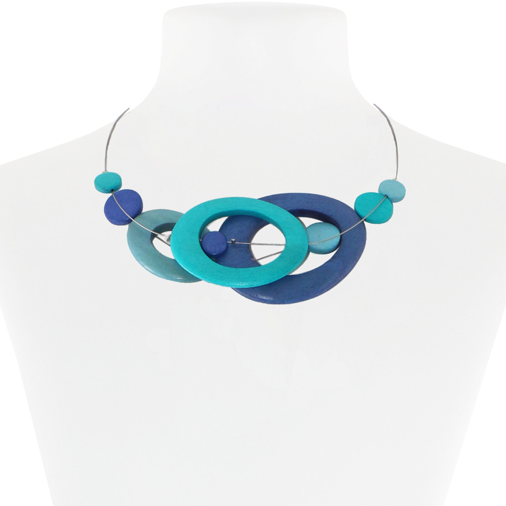 Necklace Blue 26-088590