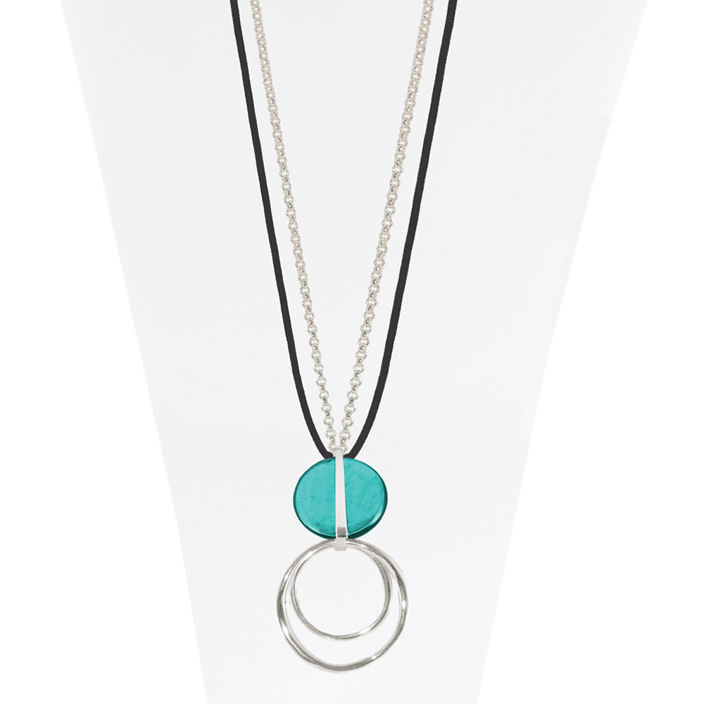 Necklace Teal 13-088088