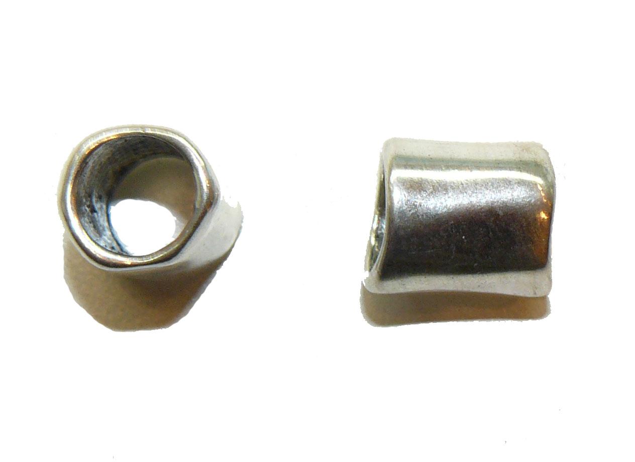 Smooth Warp Large Hole Metal Bead