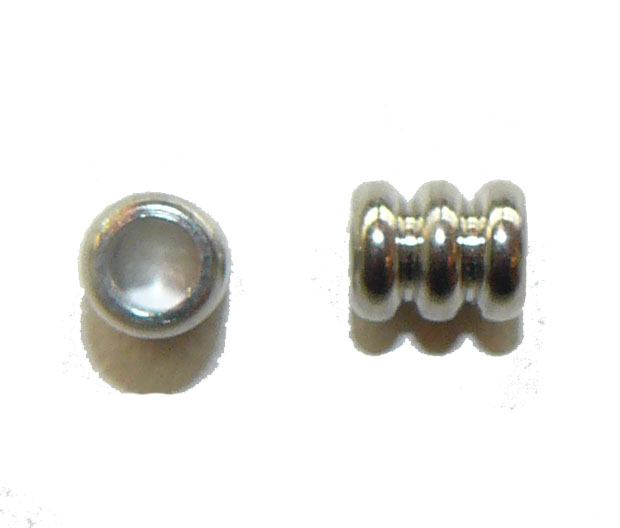 Triple Barrel Metal Bead