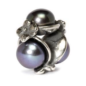Trollbeads – Triple Pearl Bead, Black – 51733